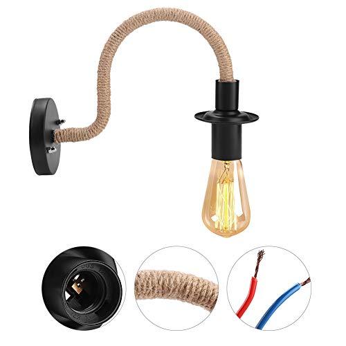 IJzeren wandlamp lamp, retrostijl E27 fitting gloeilampen niet inbegrepen Nordic restaurant wandlamp Moderne eenvoudige studie eettafel bar gang ijzer wandlamp AC85-265V