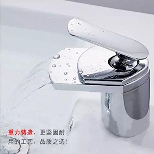 Modern Waterfall Single Handle Kitchen Faucet&Bathroom Sink Faucet Brass Kitchen Mixer Taps Waterfall Basin Faucet_Bathroom High-End Waterfall Faucet Waterfall Basin Project Oem Brand New,Faucet ()