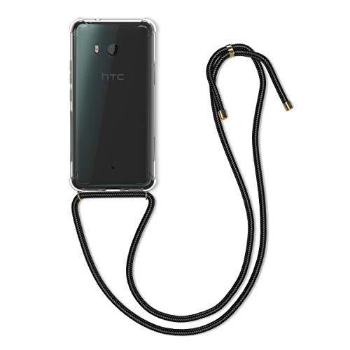kwmobile Hülle kompatibel mit HTC U11 - mit Kordel zum Umhängen - Silikon Handy Schutzhülle Transparent