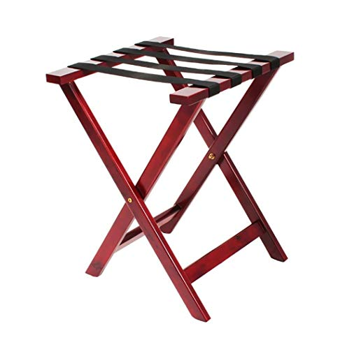 Review XLJ-YJ Luggage Rack, Bedroom Hotel Wooden Room Luggage Storage Rack - Foldable Portable Lugga...