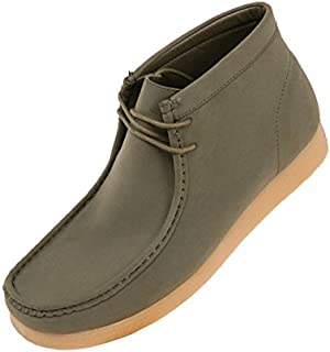 Amali Men's Faux Seude High Top Casual Boots with Crepe Rubber Like Sole, Style Jason, Runs Small Size 1 UP
