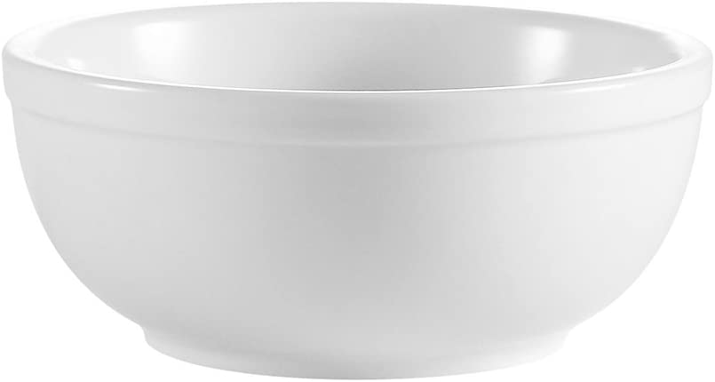 CAC China RCN-15 Popular popular Clinton Rolled Edge Porc White Super 5-5 Indianapolis Mall 8-Inch