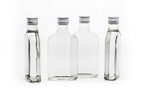 slkfactory 12Botellas vacías 200ml con Rosca TASC 0,2L L de Licor Botellas Licor Botellas vinagre Botellas Aceite