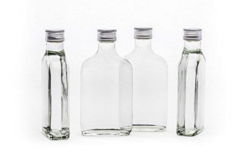 20 leere Glasflaschen 200ml Tasche mit Schraubverschluss zum selbst Abfüllen 0,2 Liter