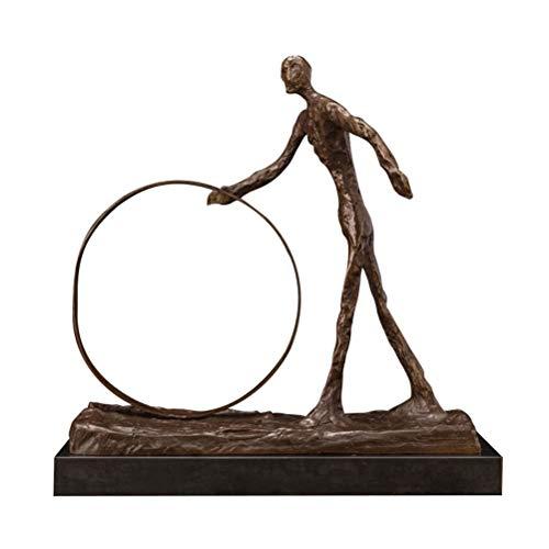 DFSDG Bronze skulptur abstrakt Dekoration zubehör Statue skulptur dekorative skulptur abstrakte Moderne Kunst (Color : Style 3)