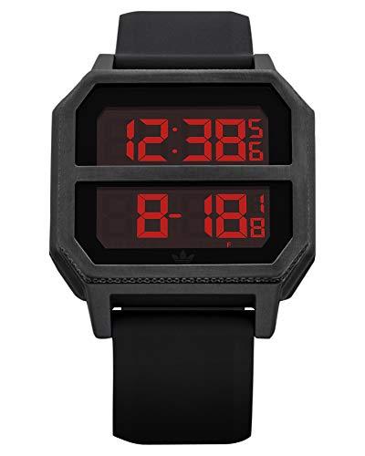Adidas Unisex– Erwachsene Digital Quarz Uhr mit Kunststoff Armband Z16-760-00