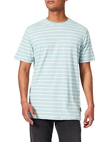 Springfield Camiseta Contraste, Azules, M para Hombre