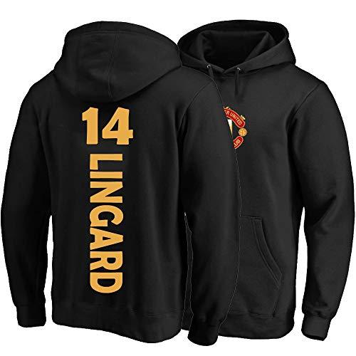 XH Sport Hoodie Jesse Lingard # 14 Männer Frauen Kapuze Pullover Trikots Lose Sweatshirts Winterjacke S-3XL (Color : Black, Size : Large)