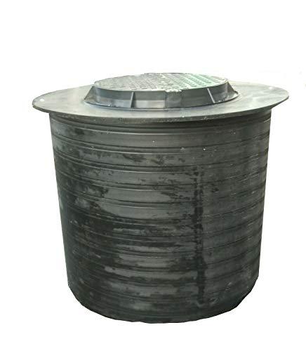 Brunnenschacht, Verteilerschacht, Kontrollschacht, Revisionsschacht, Erdschacht aus Kunststoff komplett mit einem abschließbaren Deckel (ohne Boden) 100cm (Deckelplatte 120 cm)
