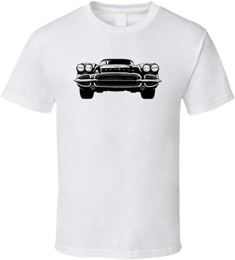 1962 Max 87% Long Beach Mall OFF Corvette Grill View Shirt White T 3XL