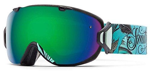 Smith Optics I/OS Women's Interchangable Series Ski Snowmobile Goggles Eyewear - Mrs. Eaves/Green Sol X Mirror/Medium