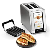 New! Revolution InstaGLO R180 Toaster + Revolution Panini Press Bundle. Make grilled cheeses, quesadillas, paninis, tuna melts and other sandwiches in your toaster (2 items)