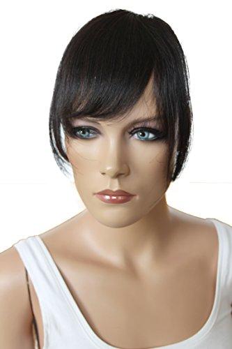PRETTYSHOP 100% Echthaar Pony Human Hair Haarteil Haarverdichtung Haarverlängerung H313x