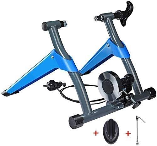 Bicicleta magnética Turbo Trainer - Entrenador moto Stand- w/ 8 niveles de velocidad del alambre de control Ajustador, reducción de ruido, de liberación rápida y vertical de las ruedas delanteras