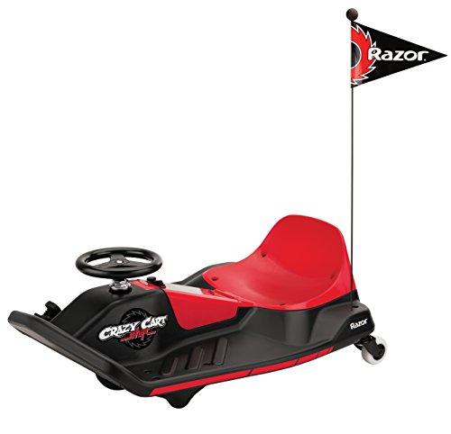 Electric Go Kart - Crazy Cart Shift Kids Go Kart - Red - Razor