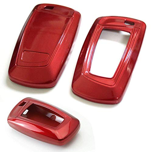 iJDMTOY Exact Fit Gloss Metallic Red Smart Key Fob Shell Compatible With BMW 1 2 3 4 5 6 7 Series X3