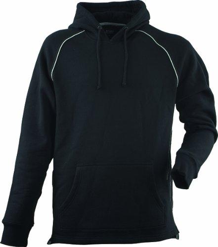 JOB Sweatshirt m. Zunft-Emblem/Symbol DACHDECKER u. Kapuze schwarz (S)