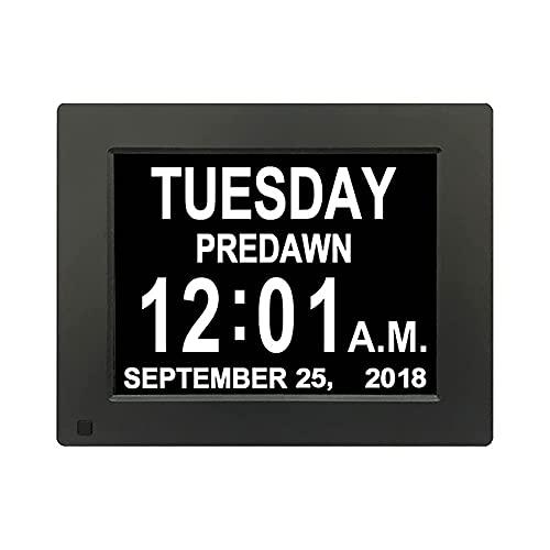 SBDLXY Marco de Fotos Digital Negro/Blanco Reloj electrónico de 8 Pulgadas Máquina Calendario de Escritorio Álbum electrónico Digital Resolución 1024 × 768