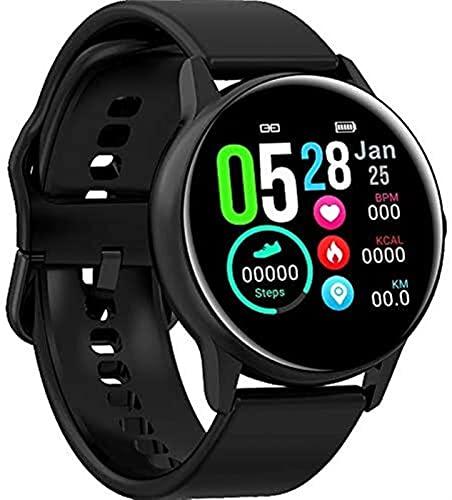 SmartWatch Tarifa cardíaca Presión Arterial Oxígeno Oxígeno Tiempo Tiempo Presión Inteligente Pulsera Inteligente para Hombres y Mujeres Reloj Deportivo (Color : Black)