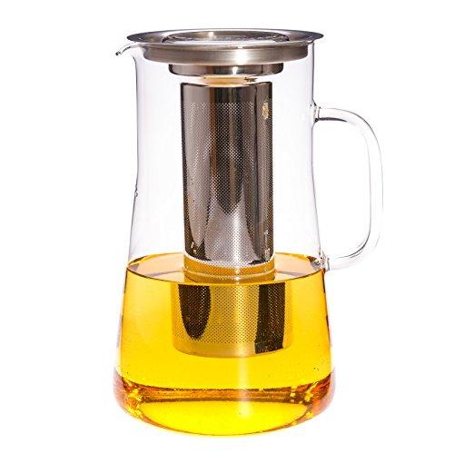 Trendglas Jena Teekanne / Teebereiter HUDSON mit Deckel und Edelstahlfilter, 2,5 l