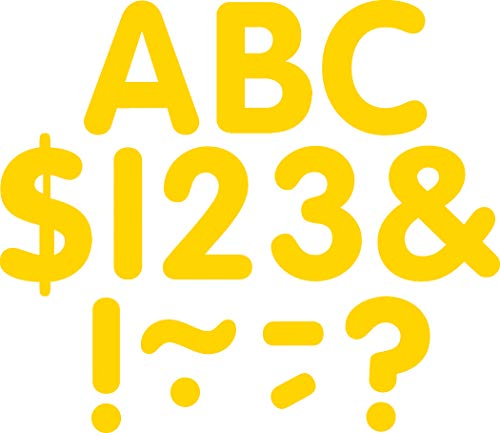 Teacher Created Resources Yellow Gold Classic 2-Inch Letters Uppercase Pack (5560)