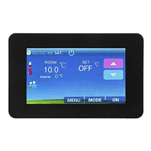 Thermostat, 4.3in 16A Touchscreen Elektroheizung Thermostat Temperaturregler für Fußbodenheizung