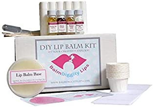 Ultimate DIY Lip Balm Kit   Everything You Need for 12 Tubes, Melt & Pour Balm Base, 4 Flavor Oils, Labels, Mixing Cups, Droppers & More! Easy - No Hassle - 12 Lip Balms For Healthy Lips
