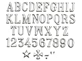 LETRAS LAPIDAS ACERO INOX. (4,5 cm y 4,5 cm)