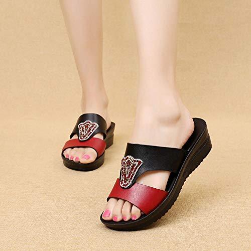 Noctiflorous Zapatillas de Estilo para el hogar,Sandalias de Plataforma para Mujer, Zapatillas Antideslizantes de Fondo Suave,Piscina para Hombre Baño Sandalias