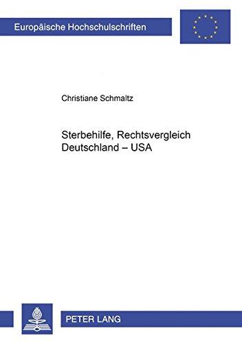 Sterbehilfe, Rechtsvergleich Deutschland - USA PDF Books