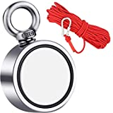 Super Strong Fishing Magnets 880lbs Super Strong Neodymium Magnet with Heavy Duty 33 ft Rope & Carabiner for Magnet Fishing and Retrieving, Powerful Magnet Fishing and Magnetic Recovery Salvage