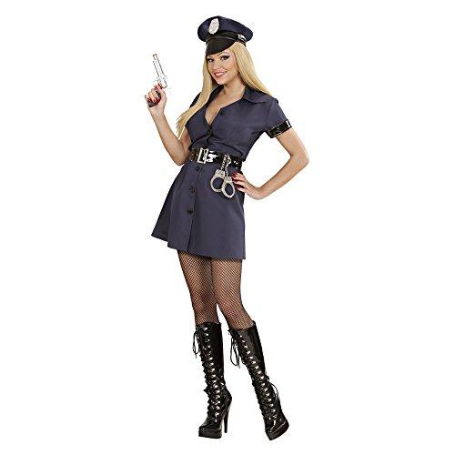 Widmann 77232 - Kostüm Polizistin, Kleid, Gürtel und Hut, Größe M