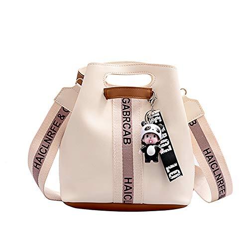 LEJAHAO Beuteltasche Damen y2k Bucket Bag Crossbody Bag Elegant Shopper Schultertaschen Umhängetasche Handtasche Henkeltaschen PU Leder Hobo Tote Handbags mit Ornamente Ladies Frauen Mittelgroß Weiß