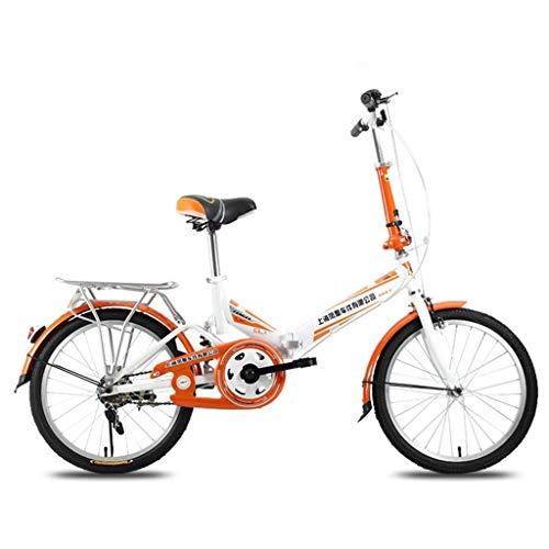 smzzz Deportes al Aire Libre Cercanías Ciudad Carretera Bicicleta Bicicleta Viaje Bicicleta para niños 20 Pulgadas Ultraligero Portátil Plegable Adulto Chica Niños Bicicleta Rosa