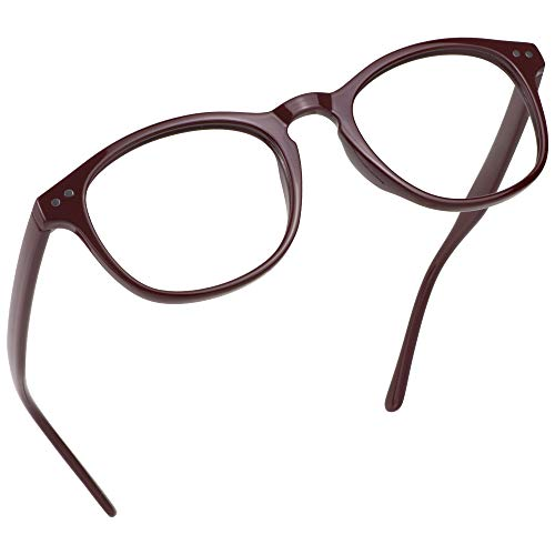 LifeArt Blaue Licht Blockieren Brille, Anti-Augen-Müdigkeit, Computer Lesebrillen, Gaming Brille, TV Brille für Frauen Männer, Anti UV, Anti Glare (Rot, 1.00 Vergrößerung)
