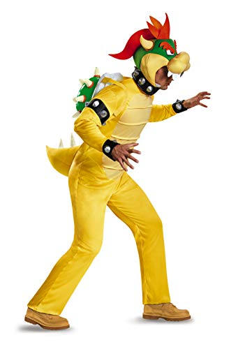 Disguise Men's Bowser Deluxe Adult Costume, Multi, XX-Large