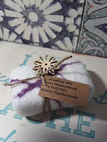 Eingefilzte Seife Naturkosmetik Lavendel Filzseife NATÜRLICHKEIT