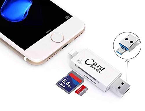 HonkTai, lettore di schede Lightning SD e Micro SD, adattatore USB OTG per dispositivi iOS, per iPhone 7, 5, 5S, 6, 6S, iPad e computer