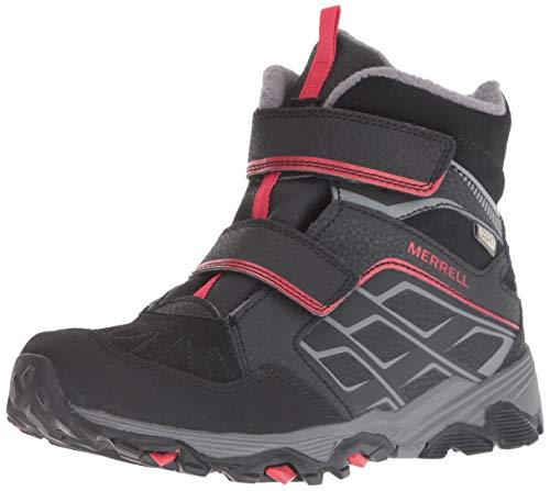 Merrell Unisex's Moab FST Polar Mid A/C Waterproof Boots, Red/Black, 2