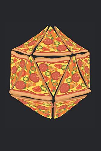 Carnet De Notes: Pizza Dice Dungeon Cadeau De Joueur De Rpg 120 Pages, 6X9 (Environ A5), Grille À Point