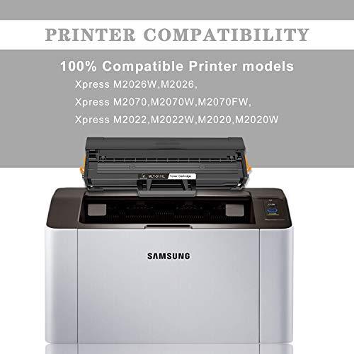 Gootior Compartible para Samsung MLT-D111S D111L Tóner para impresoras láse, 1800 páginas,Reemplazo para Samsung Xpress M2020 M2020W M2022 M2022W M2026 M2026W M2070 M2070F M2070FW M2070W, 1 Negro