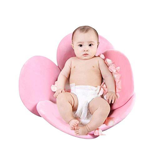Tumbona de apoyo para bañera de bebé, almohadilla de baño con cinco