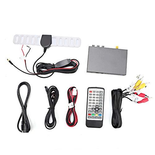 Receptor de TV portátil digital Control remoto Sintonizador Box Time Shift PVR Grabación y reproducción Reproductor multimedia, reloj digital, temporizador, TDT DVB-T2 229 H.265
