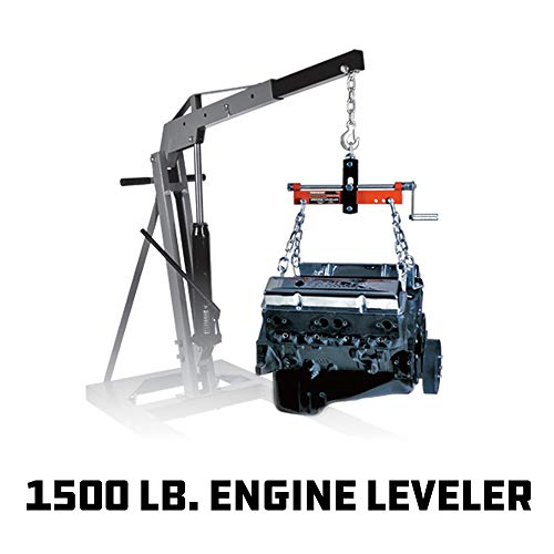 Powerbuilt 640470 3/4-Ton Engine Leveler with Handle, Red