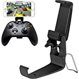 Jovitec Foldable Controller Clip Mobile Phone Plastic Holder Smartphone Game Clamp for Xbox One Controller (2 Pack)