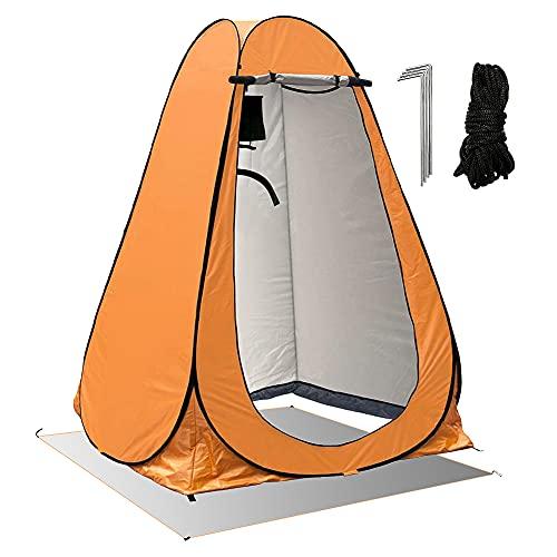 FOGARI Tienda de campaña para vestuario, tienda de ducha desplegable para exteriores, resistente al agua y portátil, con bolsa de transporte, para camping, fotos al aire libre