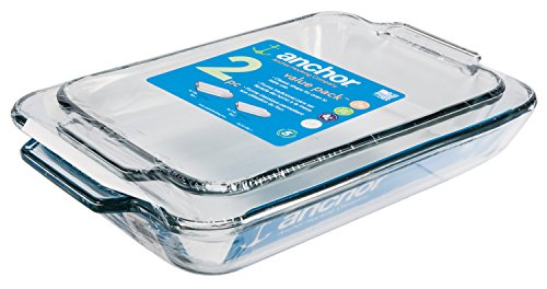 Anchor Hocking Oven Basics Glass Baking Dishes, Set of 2