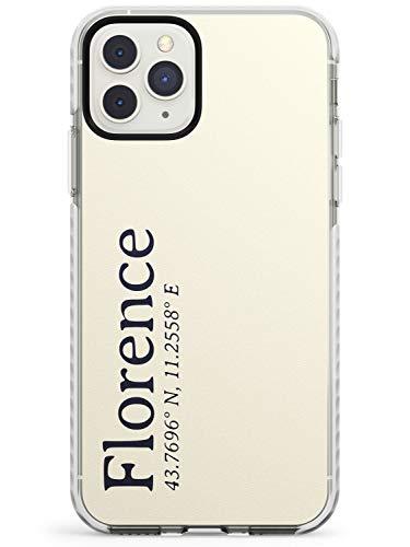 Elegante Simple Y Coordenadas Designs: Florencia Caja del teléfono de impacto para iPhone 11 Pro | Protector Doble capa Parachoque TPU silikon Cubrir Patrón Impreso | Pasión De Viajar Viajero Ciudades