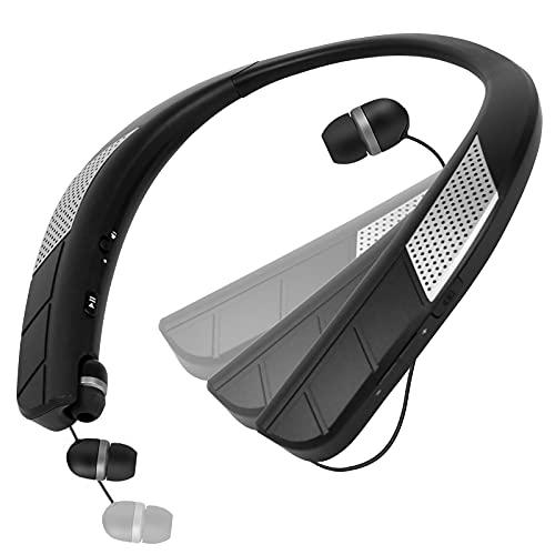 ネックスピーカー Bluetooth スピーカー 2021進化版 900MAH大容量バッテリー 人間工学による設計ワイヤレス Bluetoothイヤホン約30時間連続再生2 in 1 ウェアラブル首掛けスピーカー IPX4防水ワイヤレス 幅広い互換性 近所迷惑防止 PSE認定済みの急速充電アダプター付き 肩掛け スピーカー3D音響 内蔵マイク オーディオ用 電話Apt-X対応 Bluetooth 5.0