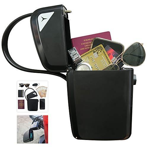 Frostfire Design 7024 Moonsafe Tragbarer Safe für Reisen mit Kombination und Schlüsselzugang, schwarz, groß